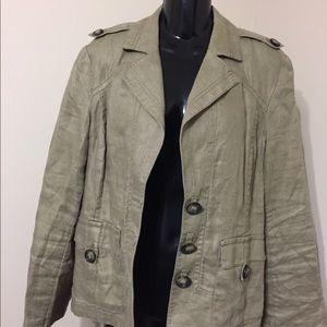 Khaki color 100% linen jacket